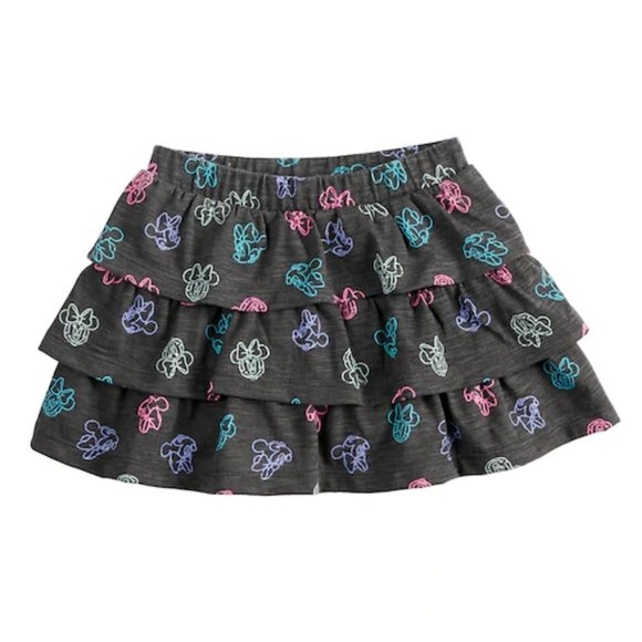 Disney Minnie Mouse Print Tiered Skirt With Attached Bloomers ~ 24 Months ~ NWT